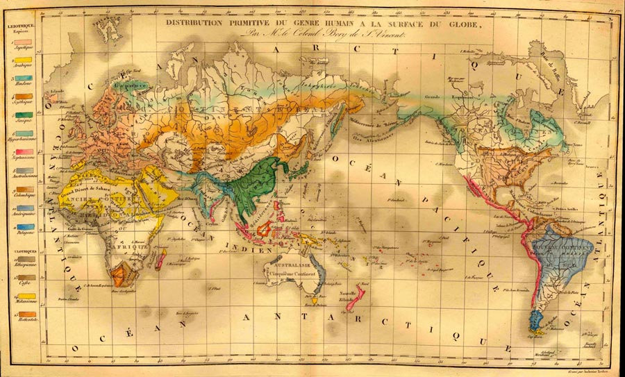 Races Of The World Map.Pacific Encounters Pacific Maps Historical And Contemporary